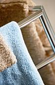 Towels on towel rack