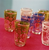 Several colourful drinking glasses