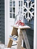Christmas arrangement outdoors