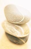 Three stacked pebbles