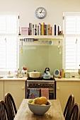 A detail of a kitchen