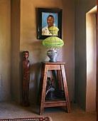 Arrangement of African art
