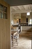 A view into a kitchen