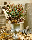 Autumn arrangement with Hypericum Envy Flair