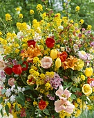 Magnificent bouquet of summer flowers