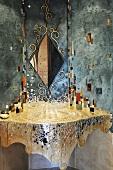 A mosaic wash basin
