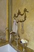 Kitchen utensils and sink