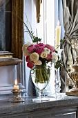 Ranunculus in a glass vase