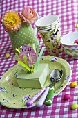 Easter place-setting for a child