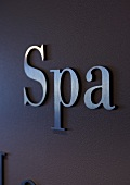 The word SPA on a wall