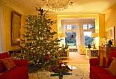 Christmas tree in sitting room