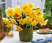 Vase of narcissi