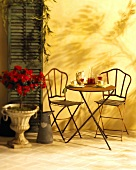 Bistro table with two chairs