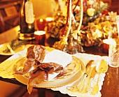 Festive place-setting (Christmas)