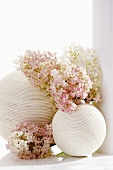 Hydrangea flowers and decorative balls