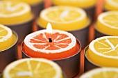 Orange and lemon candles