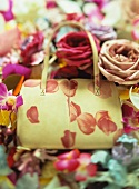 Ladies' handbag with roses