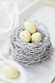 Quail's eggs in an Easter nest
