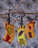 Halloween Cookie Ornaments Hanging From Branches