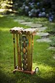 Croquet Set on Lawn