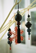 Wooden balls as Christmas decoration