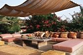 A terrace of a dammuso (Pantelleria, Sicily, Italy)
