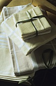 Folded tablecloths