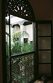 An open window in a Moroccan house