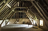 The granary of an old country home with roof truss construction