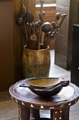 Small items of African furniture and handicrafts