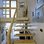 A flight of stairs in a maisonette apartment