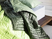 Shiny green quilt