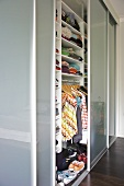 Fitted wardrobes in modern bedroom