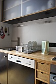 Modern kitchen with wooden units