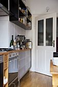 Modern kitchen with integral oven