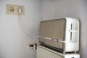 Toaster on radiator