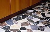 A 1950s style natural stone floor