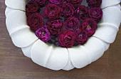 Roses in a finger bowl