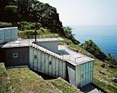 Neubauhaus am Hang mit Meerblick, Haus Izu, Tokio, Japan
