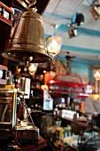 A bell in a Cuban restaurant La Bodeguita Del Medio in Prague, Czech Republic
