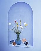 Trompe-l'oeil-Alkoven mit Blumen