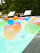 Balloons in swimming pool