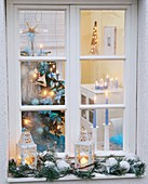 View into a Christmassy room