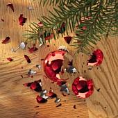 Kaputte Weihnachtskugel