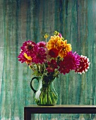 Dahlias in a jug