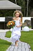 Blond flower girl
