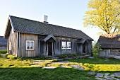 A wooden house in Scandinavia