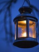 A hanging garden lantern