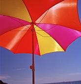A colorful sun umbrella