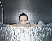 A woman in a whirlpool